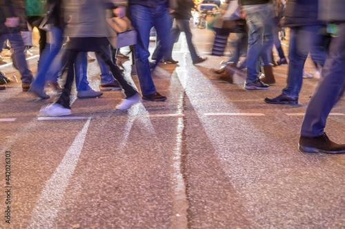Obraz na plátne people_walking