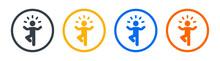 Yoga Pose Icon Vector Illustration. Meditation Concept.