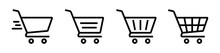 Shopping Cart Icon Vector. Shopping Cart Illustration For Web, Mobile Apps. Shopping Cart Trolley Icon Vector. Trolley Icon.
