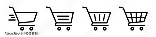 Fotografie, Obraz Shopping Cart Icon Vector
