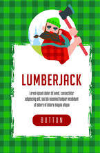 Lumberjack Seamless Pattern With Lumberjack Avatar You Can Use This Design To Create A Poster, T-shirt, Pillow, Tote Bag, Case, Phone Case, Etc.