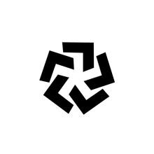 Asterisk Symbol Sign Logo Vector Icon Illustration
