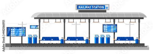 Fotografie, Obraz Modern Railway Station for High Speed Train