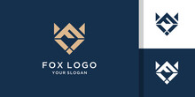 Abstract Letter F Fox Logo Template
