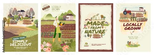 Fotografie, Obraz Organic farming, agriculture and gardening