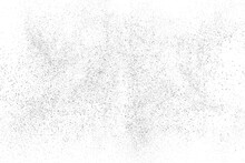 Distressed Black Texture. Dark Grainy Texture On White Background. Dust Overlay Textured. Grain Noise Particles. Rusted White Effect. Grunge Design Elements. Vector Illustration, EPS 10.