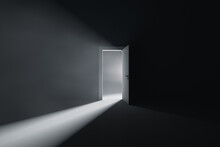 Open Door To A Room With Bright Light