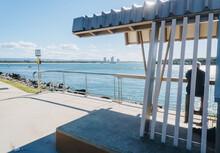 Seaway Sun Shelter On The Spit Promenade Near Surfers Paradise