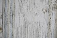 Old Gray Cracked Wooden Door