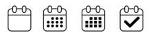 Vector Flat Daily Calendar Icon. Date And Time, Day, Month. Holiday.