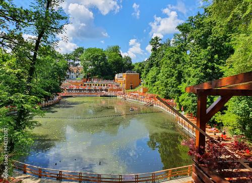 Fototapeta Landscape with Black Lake in Sovata resort - Romania