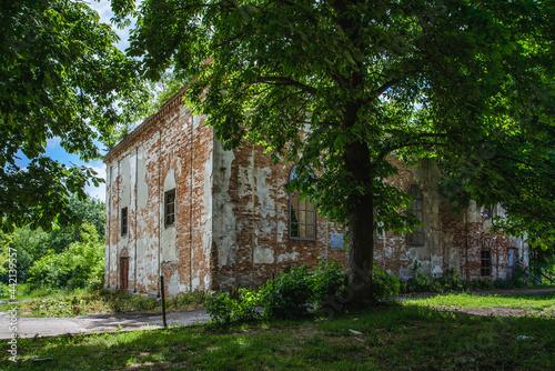 Olesko, Ukraine - June, 2021: Olesko Synagogue Ruins