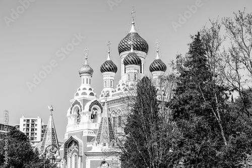 The St Nicholas Orthodox Cathedral in Nice, Cote d'Azur, France фототапет