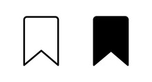Bookmark Icon Vector For Web, Computer And Mobile App