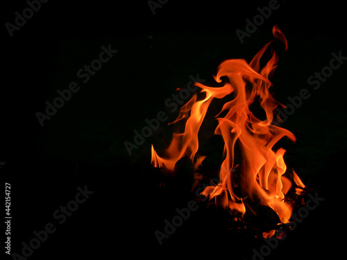 Fototapeta Abstract background image of flames on black background.