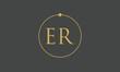monogram E and R logo design