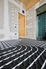 Radiant Floor In Modern Wooden House