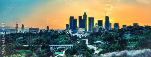 Fotografiet Los Angeles skyline
