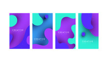 Trendy Editable Fluid Sale Banners For Social Media Stories Sale, Web Page, Mobile Phone.