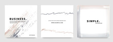 Hand Drawn Art For Social Media Templates, Square Business Templates For Facebook And Instagram, Vector Brush Strokes Elements, Minimal Creative Layouts