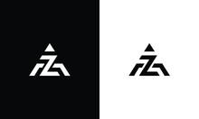 Initial AZ ZA Modern Monogram And Elegant Logo