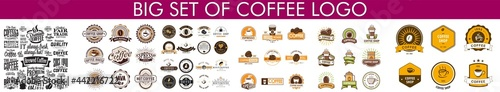 Foto Retro Styled Coffee Emblems