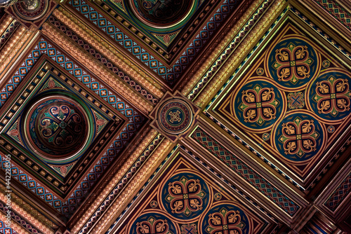 Canvas detail of the ceiling