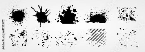 Fotografia brush stroke grunge collection