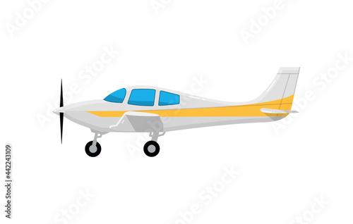 Fototapeta Old airplane propeller icon