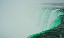 Niagara Falls, Water And Fog Create A Sense Of Mystery.
