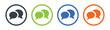 Speech bubble icon vector illustration. Discussion symbol