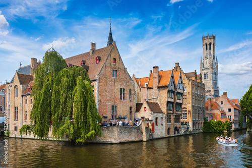 Fotografia, Obraz Famous view of Bruges, Belgium