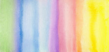 Abstract Multicolor Stripes Watercolor Hand Painted Background