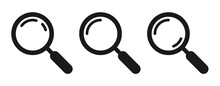 Search Icon. Magnifying Glass Vector Illustration.