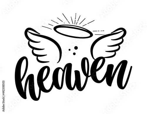Fotografie, Obraz Heaven - Hand drawn beautiful memory phrase