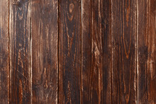 Wood Background Or Texture.Vintage Brown Wood Backdrop Texture. Old Painted Wood Wall. Blank Space Copy Paste.