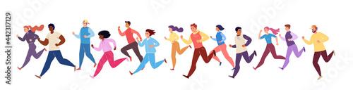 Fotografie, Obraz Jogging athletes
