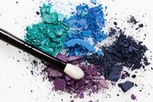 Broken Eye Shadow Splash Cosmetic Makeup Brush