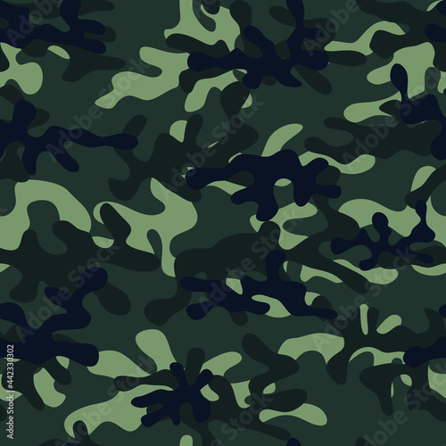 Fotografering Abstract black and gray camouflage