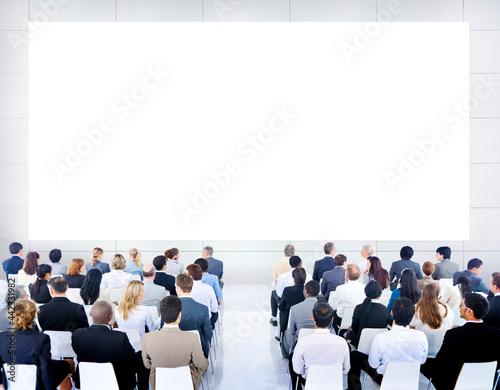 Fotografie, Tablou Large corporate business presentation