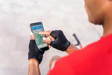 Rider Man Using Phone