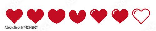 Fotografering Heart icon. Favorite icon. love, Vector illustration.