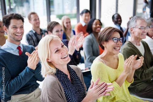 Vászonkép Audience Applaud Clapping Happines Appreciation Training Concept