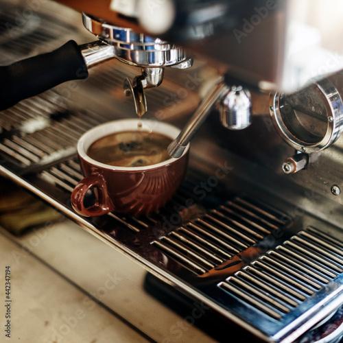 Tableau sur Toile Closeup of coffee machine