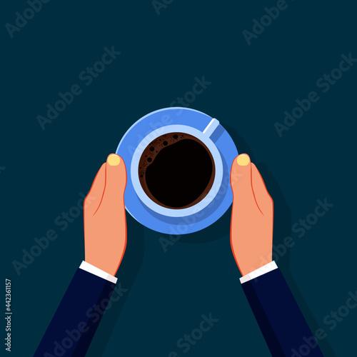 Fototapeta Businessman serving coffee