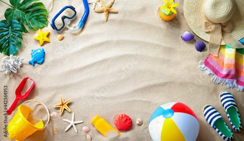 Obraz na plátně Summer travel and beach holiday background