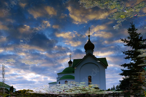 Photo Church architecture of Murom, a city in Russia.