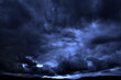 Leinwandbild Motiv Dark Stormy Rain Storm Clouds