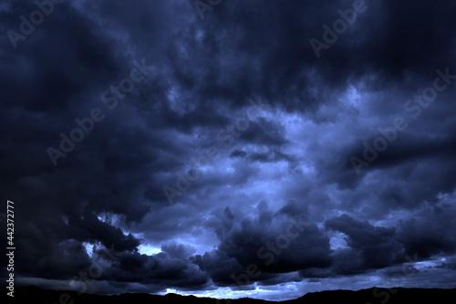 Carta da parati Dark Stormy Rain Storm Clouds