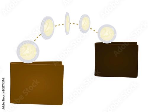 Fototapeta Money transfer concept. vector illustration